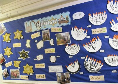 Year 1's display on Judaism