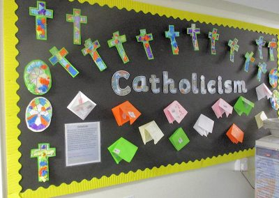 Year 3's display on Catholic Sacramental Preparation