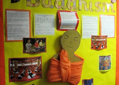 Year 4's display on Buddhism