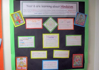 Year 6's display on Hinduism