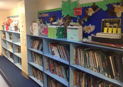 Shelves of books in our Library