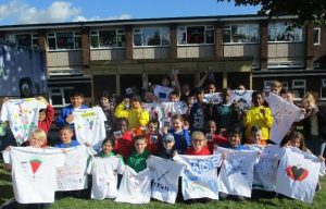 Class 6's completed t-shirt designs
