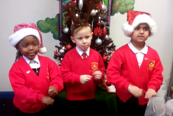 'Happy Christmas' in Makaton