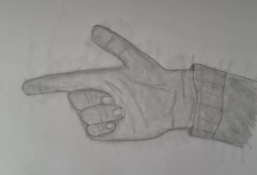 Hand art, using the 5 main drawing techniques