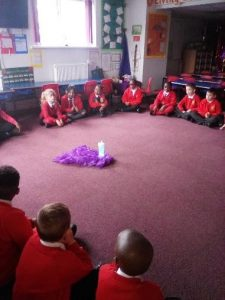 Year 2 lead the service