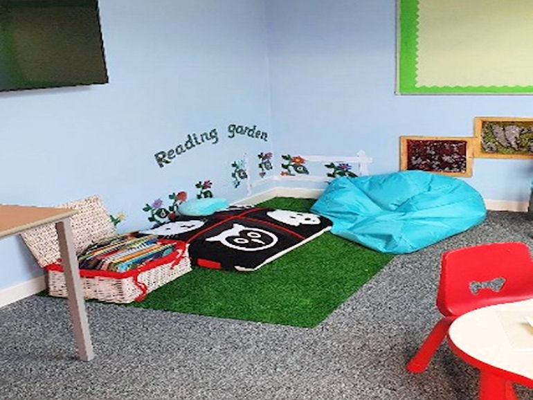 The Reading Garden in our Sunshine Hub