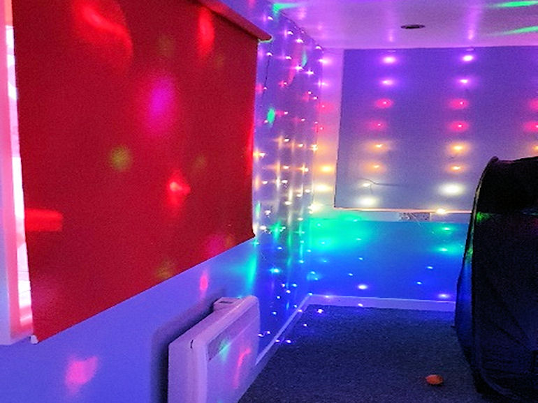 Sensory Room with lights and other sensory items