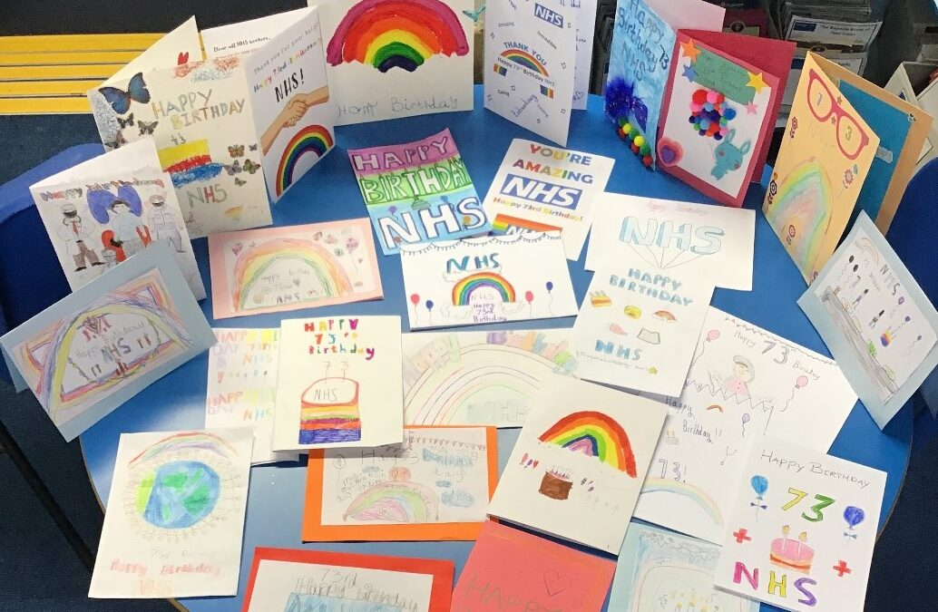 NHS 73rd Birthday Cards